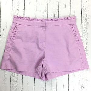 J. Crew Ruffled High Rise Lavender Short Size 8